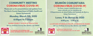 MCOE Community Meeting and Press Release on Coronavirus